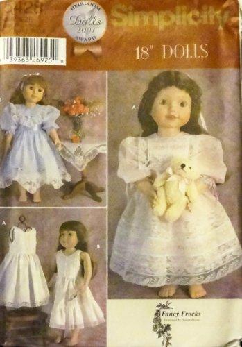 OOP Simplicity 2001 Dolls Heirloom Award Pattern 5428. Dresses & Petticoats for 18