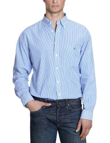 Gant The Banker Robd Men's Casual Shirt Azur Blue Large