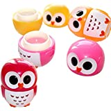 Jalousie Novelty Glitter Owl Lip Gloss 4 Piece Lip Balm Girls Birthday Party Favors FDA Approved