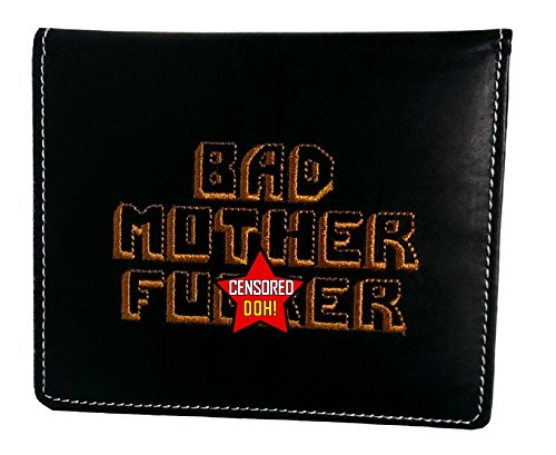 BMF Embroidered Leather Wallet Passport Edition Black