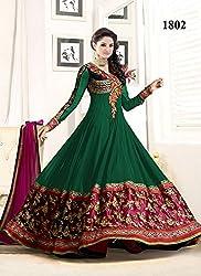 Diya Women's Green Georgette Designer Dress Materials [DS_JCN1034A_D]
