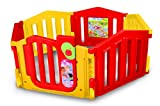 6 Sided Baby Playpen - Playard and Room Divider with Door & Playboard incl. suction cups - Quality EN71 certified