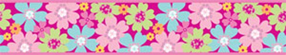 Fine Décor Fun4Walls - Cenefa adhesiva (11,8 cm), diseño de flores   más noticias y comentarios