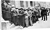 Canvas Print of DEPRESSION HARLEM, 1931. Men lined up outside an unemployment office in from Granger Art on Demand