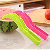 Plastic Watermelon Fruits Cutter Slicer Corer Server Scoop Knife Kitchen Tool