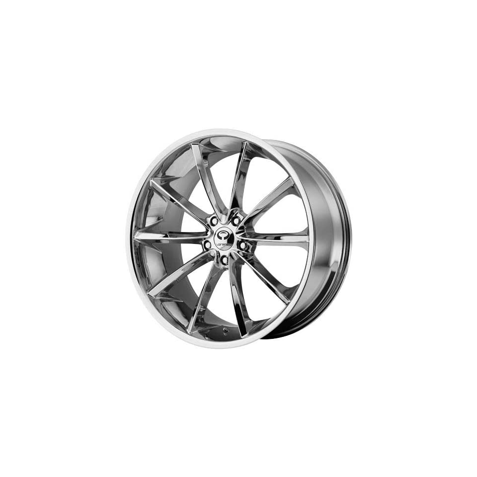 Lorenzo WL032 20x9.5 Chrome Wheel / Rim 5x4.5 with a 40mm Offset and a 72.60 Hub Bore. Partnumber WL03229512240 Automotive