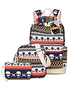 Leaper Cool Multi-Color School Backpack Set Bookbag Shoulder Bag Pencil Bag 3PCS