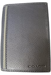 Coach Heritage Leather Passport Travel Cover Case Mahogany Brown F74417 New with Tag