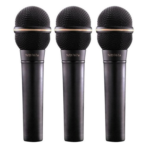 Ev Electro Voice Nd767A Dynamic Supercardioid Lead Vocal Mic 3 Pack New