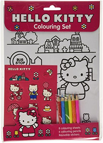 Hello Kitty Hello Kitty Colouring Set - Fab Colouring set with hello kitty colouring sheets and 12 hello kitty stickers