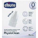 Chicco PhysioClean Ricambi Aspiratore Nasale, Bianco,10 Beccucci