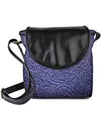 Snoogg Abstract Pattern Design Purple Womens Sling Bag Small Size Tote Bag