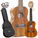 ELVIS K100C・ハワイアンコア材・スロテッドヘッド・コンサートウクレレ・美木目・アコースティック・ケース付(K100C) ランキングお取り寄せ