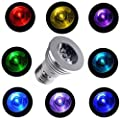 Lightahead® E27 16 Colors Changing Dimmable RGB LED Light Bulb with IR Remote Control for Home Decoration/Bar/Party/KTV Mood Ambiance Lighting