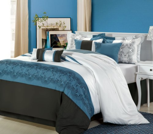 Chic Home Beluga 8-Piece Comforter Set, King