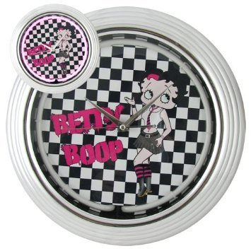 Sexy Betty Boop Mini Skirt Black Pink Retro Punk Rock Neon Wall Bar Sign Clock