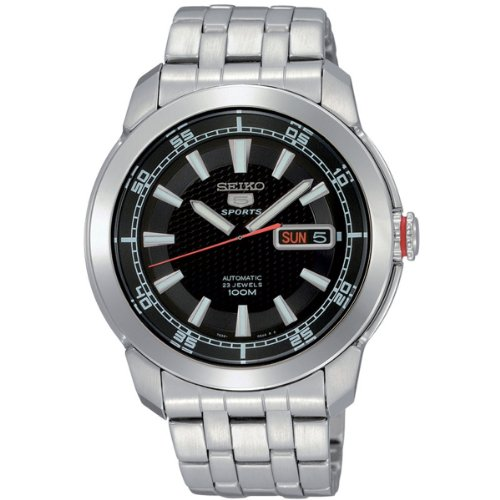Seiko Men's SNZH63 Seiko 5 Automatic Black Dial Stainless Steel Watch