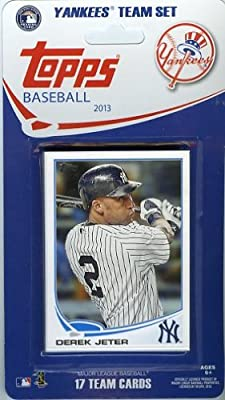 New York Yankees 2013 Topps MLB Baseball Limited Edition Factory Sealed 17 Card Complete Team Set