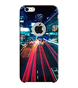 Mental Mind 3D Printed Plastic Back Cover With Logo Hole For Apple iPhone 6 -3DIP6H-G8364