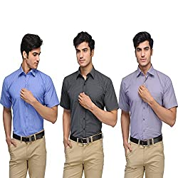Vicbono Men's Formal Shirt Pack of 3 - 456-M