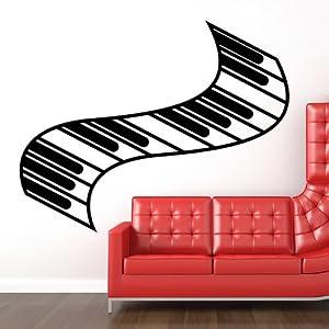 Teclas de Piano Pegatina de Pared. Arte de Pared Musica disponible en 5 tamaños y 25 colores marca IconWallStickers en BebeHogar.com