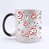 Graffiti Happy Halloween Pumpkin ghostCheap Custom Morphing Mugs