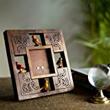 ExclusiveLane Parrot Photo Frame With Carving In Sheesham Wood- For Gift / Home Décor