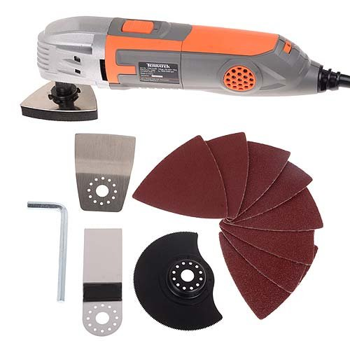 Terratek TPMT15VB Oscillating Multi Function Power Tool Vari Speed, 15-Piece kit