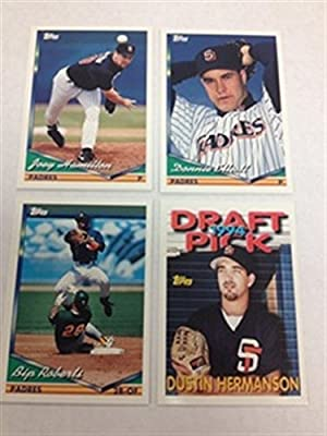 1994 Topps Traded San Diego Padres Team Set 4 Cards MINT