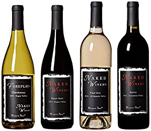 Naked Winery Best Sellers II Mixed Pack, 4 x 750 mL