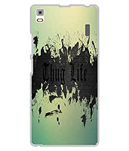 Case Cover Thug Life Printed Multicolor Hard Back Cover For Lenovo A7000/K3CC Note