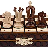 "Chess Set - Royal 30 European Wooden Handmade International Chess Set - 11-3/4"" x 11-3/4"""