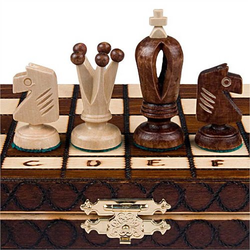 Chess Royal 30 European Wooden Handmade International Set, 11.81 x 1.97-Inch (Portable Chess Board compare prices)