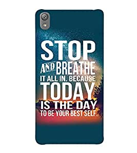 Printvisa Confidence Quote In A Blue Background Back Case Cover for Sony Xperia E5