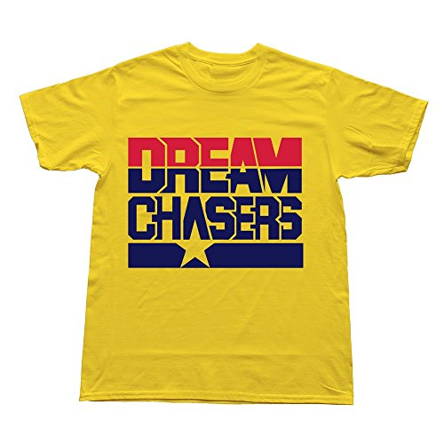 Huash Awesome Men Dream Chaser Tee Shirt Size S Yellow