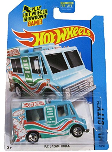 Hot Wheels - 2014 HW City 9/250 - HW City Works - Ice Cream Truck (blue) - 1