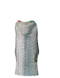 """Paderno World Cuisine Stainless Steel Protective Apron, Sized for Individuals 5"""" 5"""" or more"""