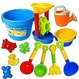 (フォクスン)FocuSun カラフルおでかけ砂場セット 砂遊び  おもちゃセット 水遊びおもちゃ 知育玩具 (13点セット)