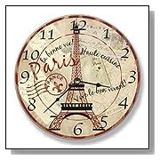 Decorative Paris Eiffel Tower Wall Clock