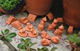 Terracotta Pot Feet 8 assorted sets of 3 (bird, cat, frog, leaf, lion's head, lion's paw, rabbit & Tudor Rose)