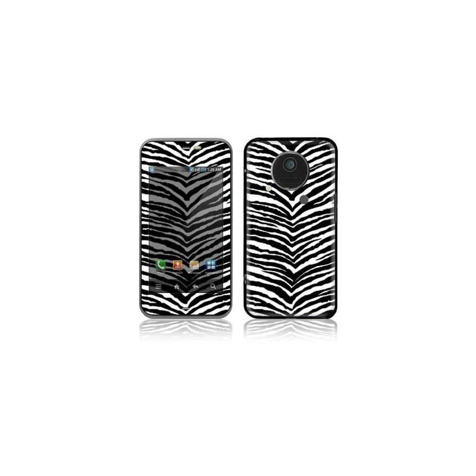 Black Zebra Skin Design Decorative Skin Cover Decal Sticker for Sharp IS03 Cell Phone