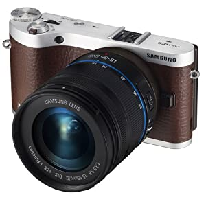 """Samsung NX300 20.3MP CMOS Smart WiFi Compact Interchangeable Lens Digital Camera with 18-55mm Lens and 3.3"""" AMOLED Touch Screen (Brown)"""