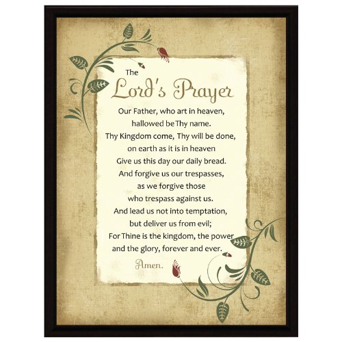 The Lord's Prayer Framed Plaque (Daily Bread Bible Verses compare prices)