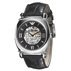Emporio Armani Automatic Black Strap Men's Watch AR4633