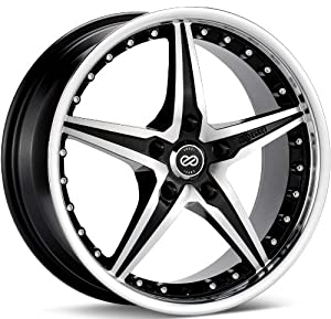 Enkei L-SR- Luxury Series Wheel, Black Machined (20×9.5″ – 5×114.3/5×4.5, 40mm Offset) One Wheel/Rim