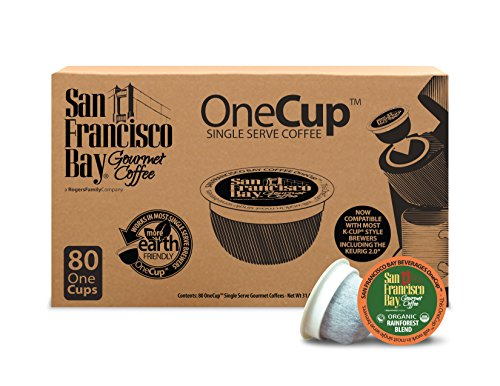 San Francisco Bay OneCup, Organic Rainforest Blend, 80 Single Serve Coffees (San Francisco Bay Keurig Coffee compare prices)