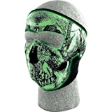 51wV 3voGBL. SL160  Zan Headgear Skull Mens Glow in the Dark Full Face Mask Street Bike Racing Motorcycle Helmet Accessories   One Size Fits All