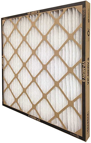 FLANDERS 80085.042424 VP MERV 8 STANDARD-CAPACITY EXTENDED SURFACE PLEATED AIR FILTER, 24X24X4 IN., 6 EA/PER CASE (1/CS)