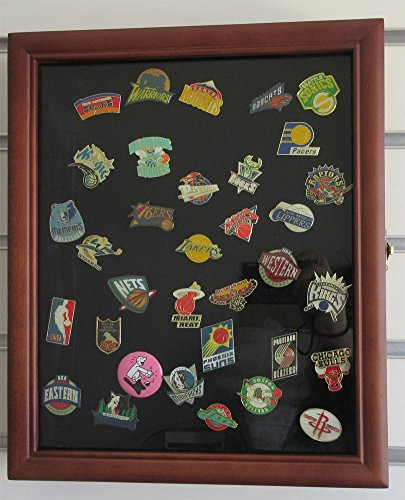 Pin Display Case Shadow Box With Glass Door Wall Mount