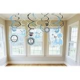 Sweet Safari Boy Baby Shower Decor Hanging Swirl Dangler Party Jungle Print
